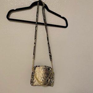 Handbags - Faux Snake Skin Crossbody Bag